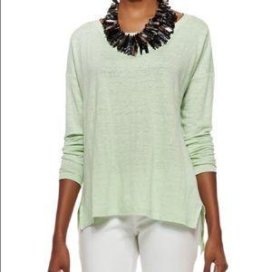 Eileen Fisher Linen Blend Mint Green Sweater S